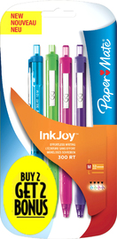 Papermate Inkjoy300RT Retro Pens Pkt2 with Bonus