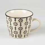 Agatha Daisy Print Mug - Black