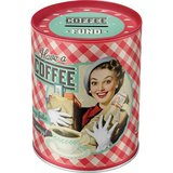 Say it 50's Retro Money Tin - Coffee Fund