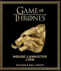 Game of Thrones Mask and Wall Mount - House Lannister Lion by Steve Wintercroft