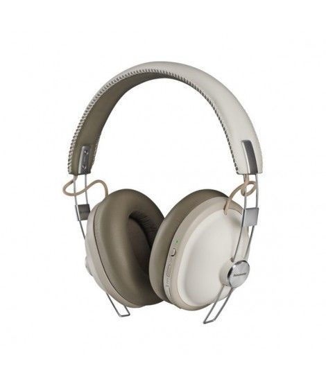 Panasonic RP-HTX90NE-W Retro Wireless Bluetooth Over-Ear Headphones with Active Noise Cancellation