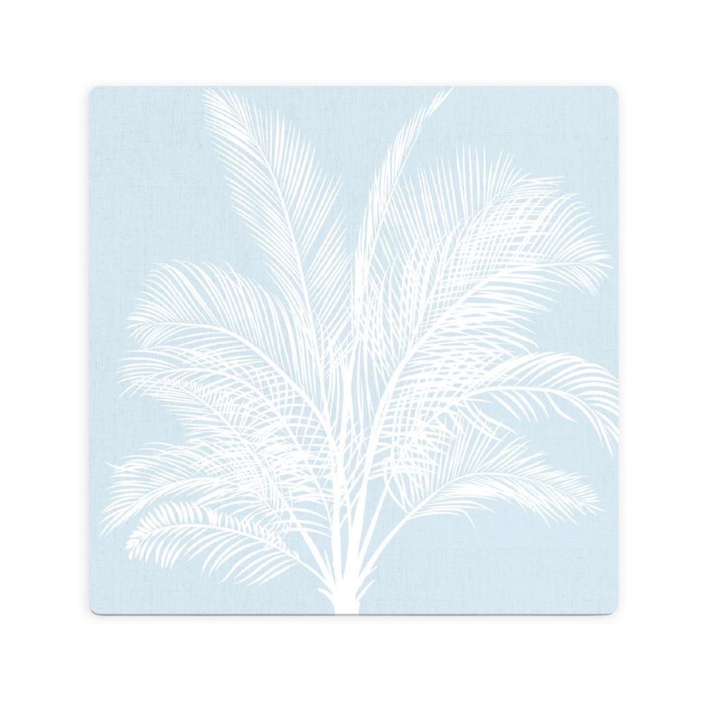 Splosh: Tranquil Blue Palm Ceramic Coaster image