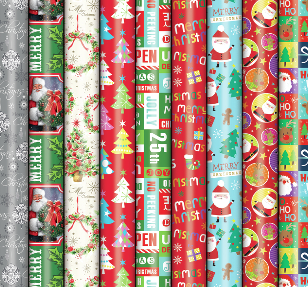 Patelena House: Christmas Roll Wrap - Gloss 5M (Assorted Designs)