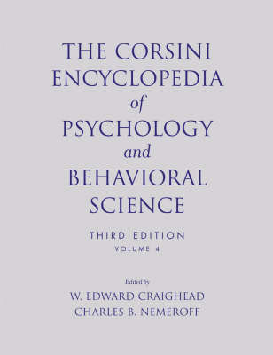 The Corsini Encyclopedia of Psychology and Behavioral Science, Volume 4 image