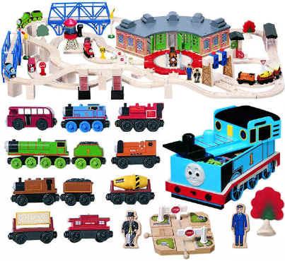 Thomas Wooden Railway Roundhouse Deluxe Set In Thomas