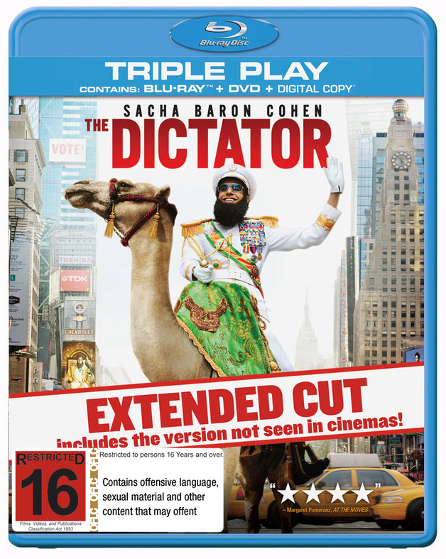 The Dictator on DVD, Blu-ray