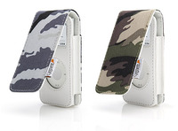 CYGNETT LEATHER CASE - GREEN ARMY CAMMO - FOR IPOD NANO 2ND GEN image