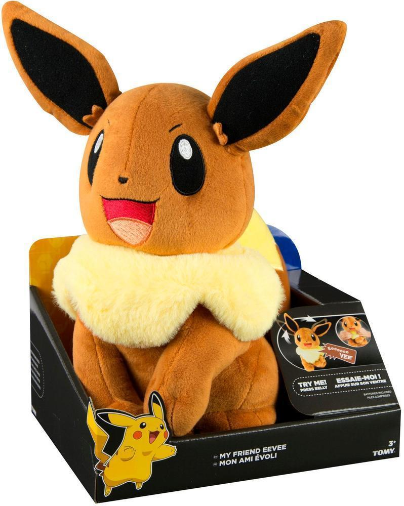 """Pokemon My Friend Lights and Sounds Plush Eevee 10"""" image"""