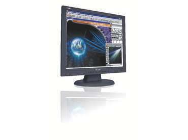 Philips 190S7FB 19  LCD Monitor DVI VGA Black
