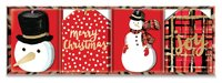 Lady Jayne: Playful Plaid Gift Tags - Red (Box of 16)