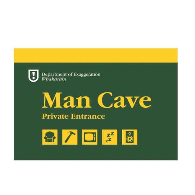 Man Cave - A5 Wooden Sign