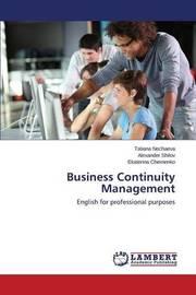 Business Continuity Management by Nechaeva Tatiana