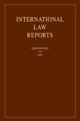 International Law Reports: Volume 177