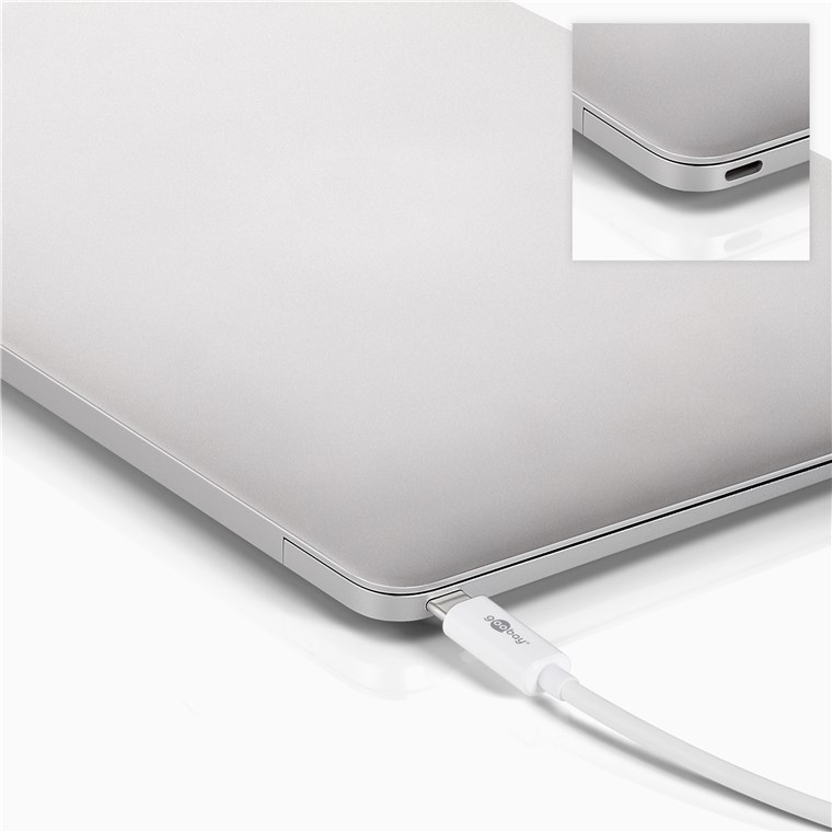 Goobay: USB-C Multiport Adapter (3 Ports) - White image