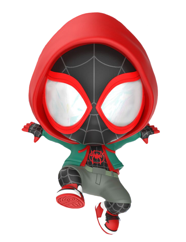 Spider-Man: Into the Spider-Verse - Miles Morales (Hooded) Cosbaby Figure