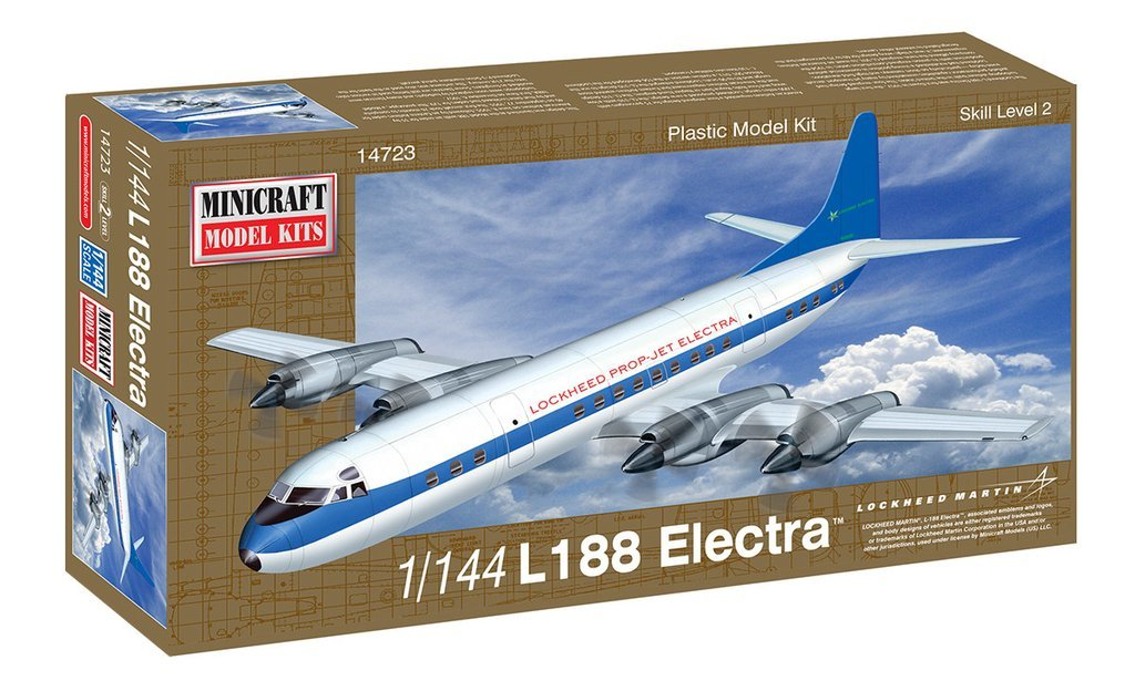 Minicraft: 1/144 Lockheed L-188 Electra Demonstrator - Model Kit