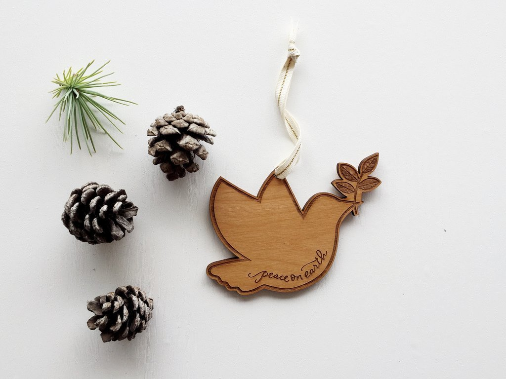 Cardtorial Christmas Ornament - Dove image