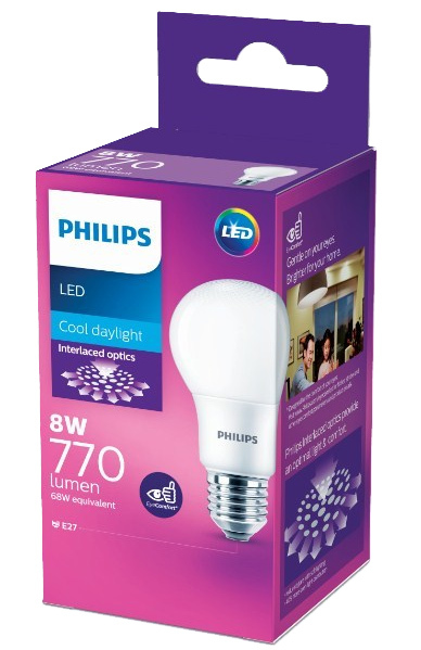 Philips: LED Bulb 8W E27 6500K
