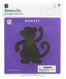 EC Colours - Jungle Stencil Set - Pack of 6