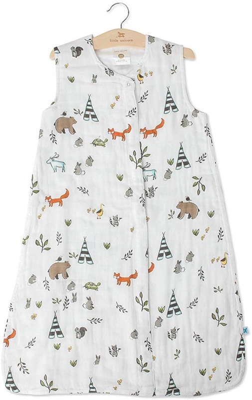 Little Unicorn: Cotton Muslin Sleeping Bag - Forest Friends (XL)
