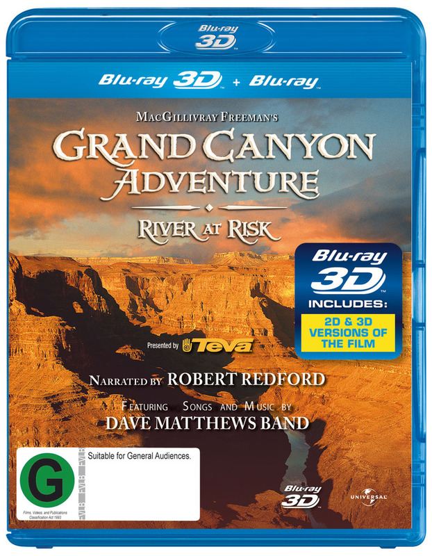 IMAX: Grand Canyon Adventure - River At Risk on Blu-ray, 3D Blu-ray
