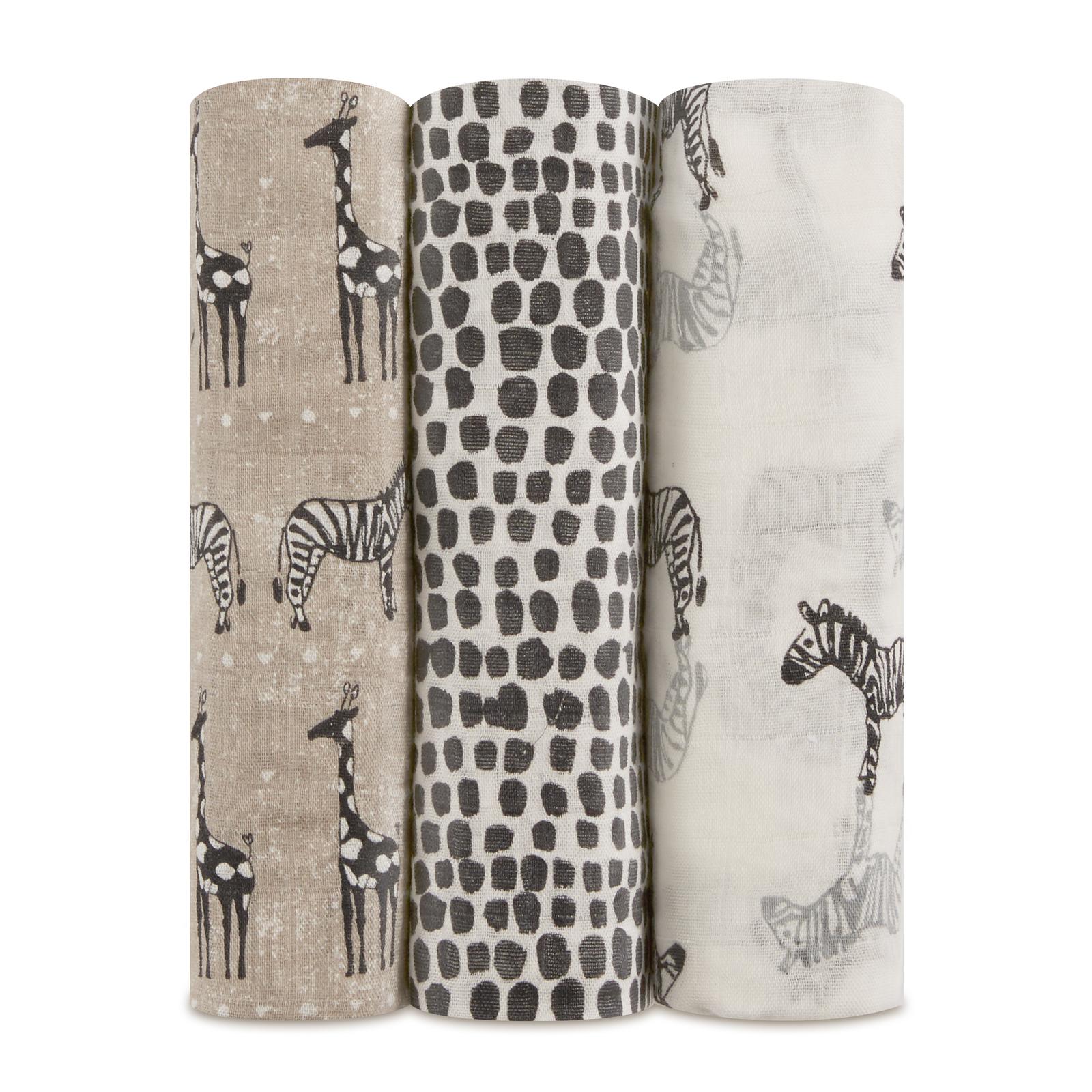 Aden + Anais: Bamboo Swaddle - Sahara (3 Pack Swaddling Wraps) image