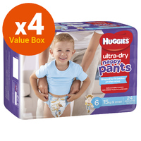 Huggies: Ultra Dry Nappy Pants Bulk Value Box - Size 6 Junior Boy (112)