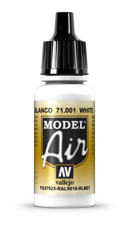 Vallejo Model Air White Acrylic Paint 17ml