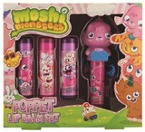 Moshi Monsters Lip Balms x 4 with 3D Topper