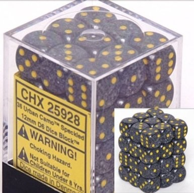 Chessex Speckled 12mm D6 Dice Block: Urban Camo image