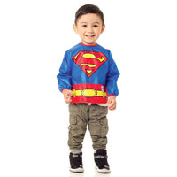 Bumkins Costume Sleeved Bib - Superman