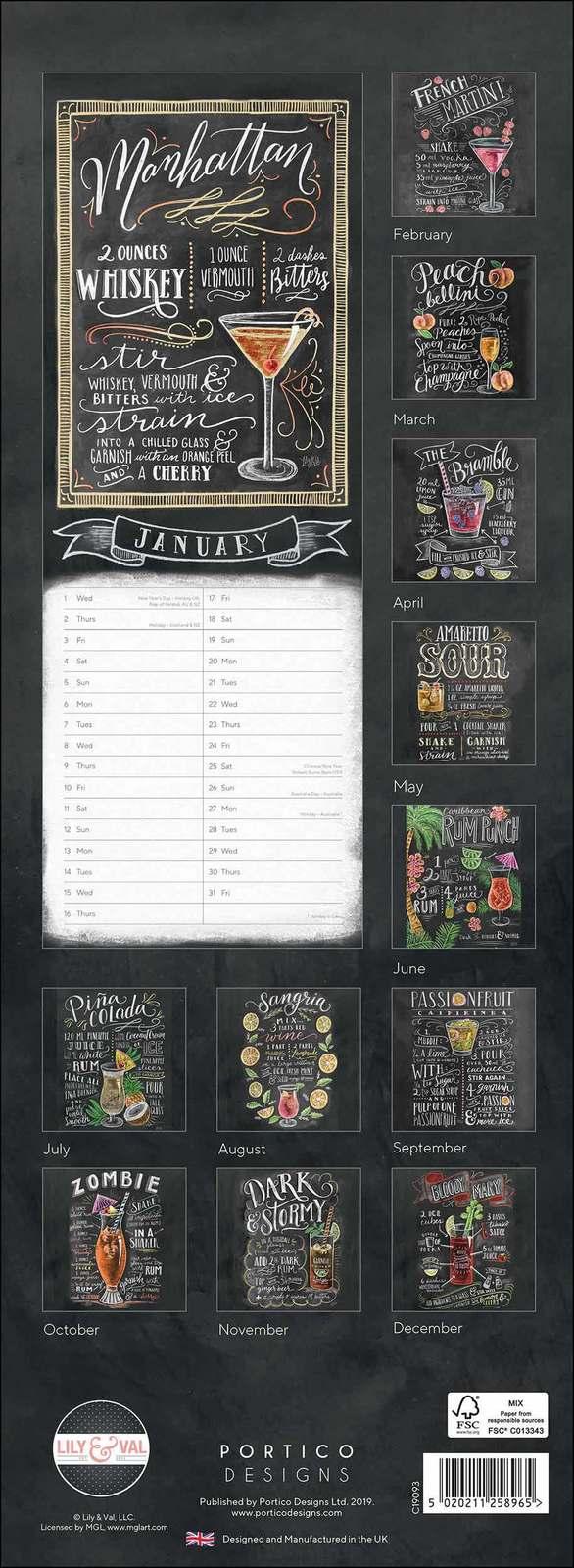 Portico: Lily & Val 2020 Slim Calendar image
