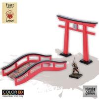 ColorED Scenery: Fukei - Torii and Bridge