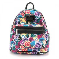 Loungefly Disney Alice In Wonderland Floral Print Mini Backpack image