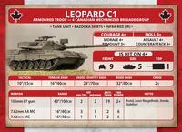 Team Yankee: Leopard 1 Tank Platoon (Plastic) image