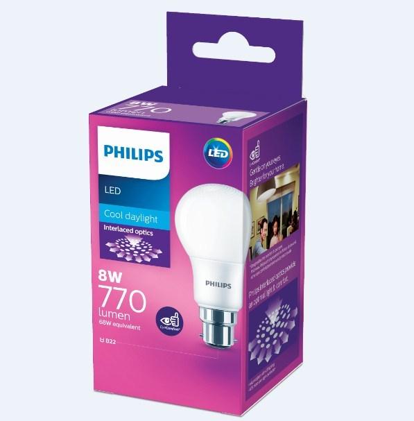 Philips: LED Bulb 8W B22 6500K
