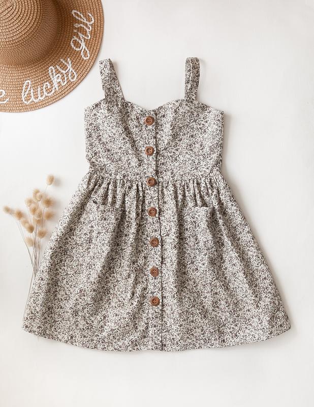 Karibou Kids: Isabelle Summer Cotton Dress - Wildflower 4YRS