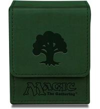 Ultra Pro: Magnetic Leatherette Flip Box - Green Mana image