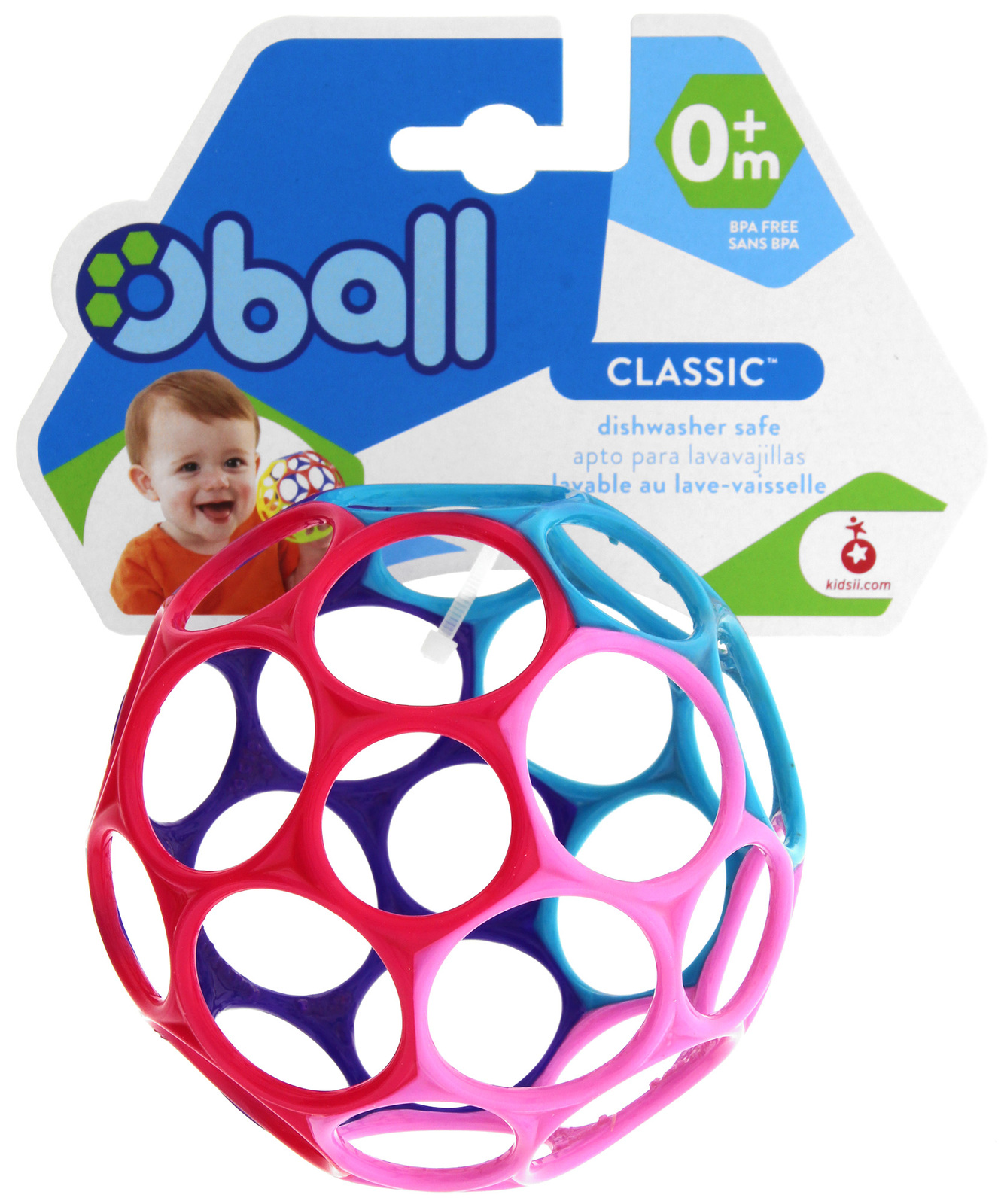 Oball: Classic (Pink/Purple/Blue) image