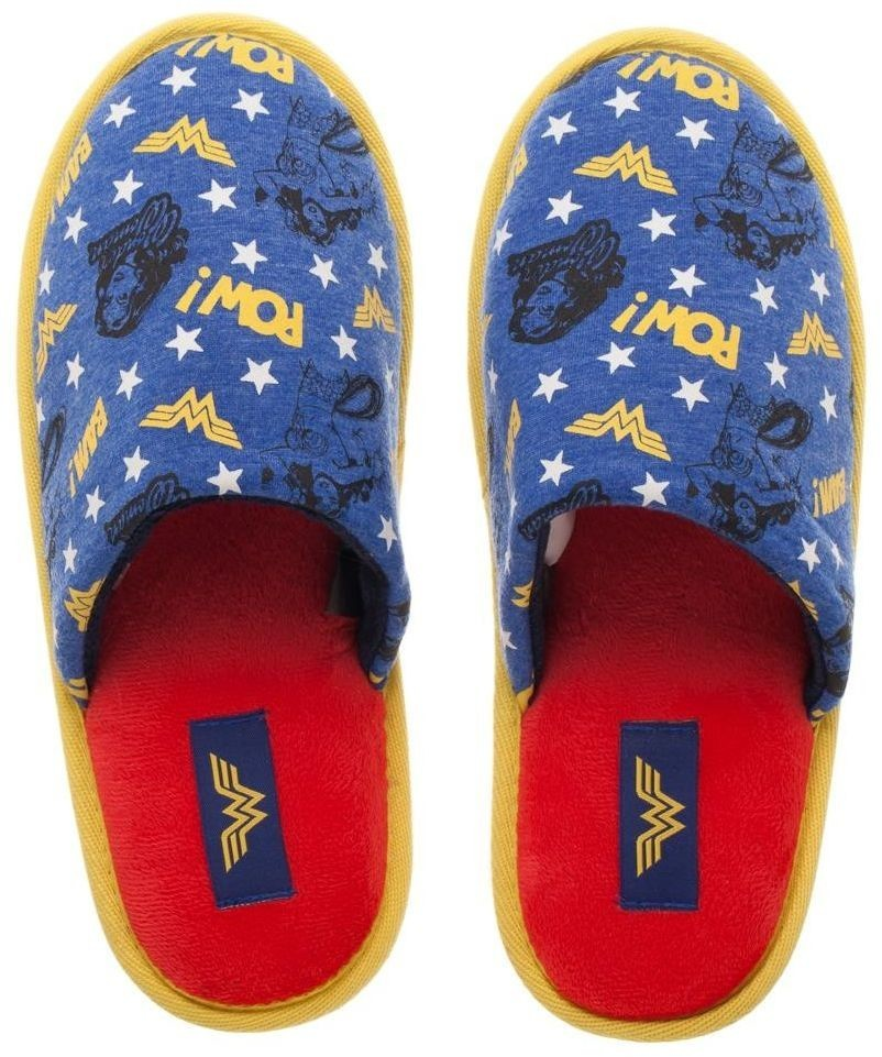 2c1e42bcce70 DC Comics  Wonder Woman All Over Print - Slide Slippers (Large ...