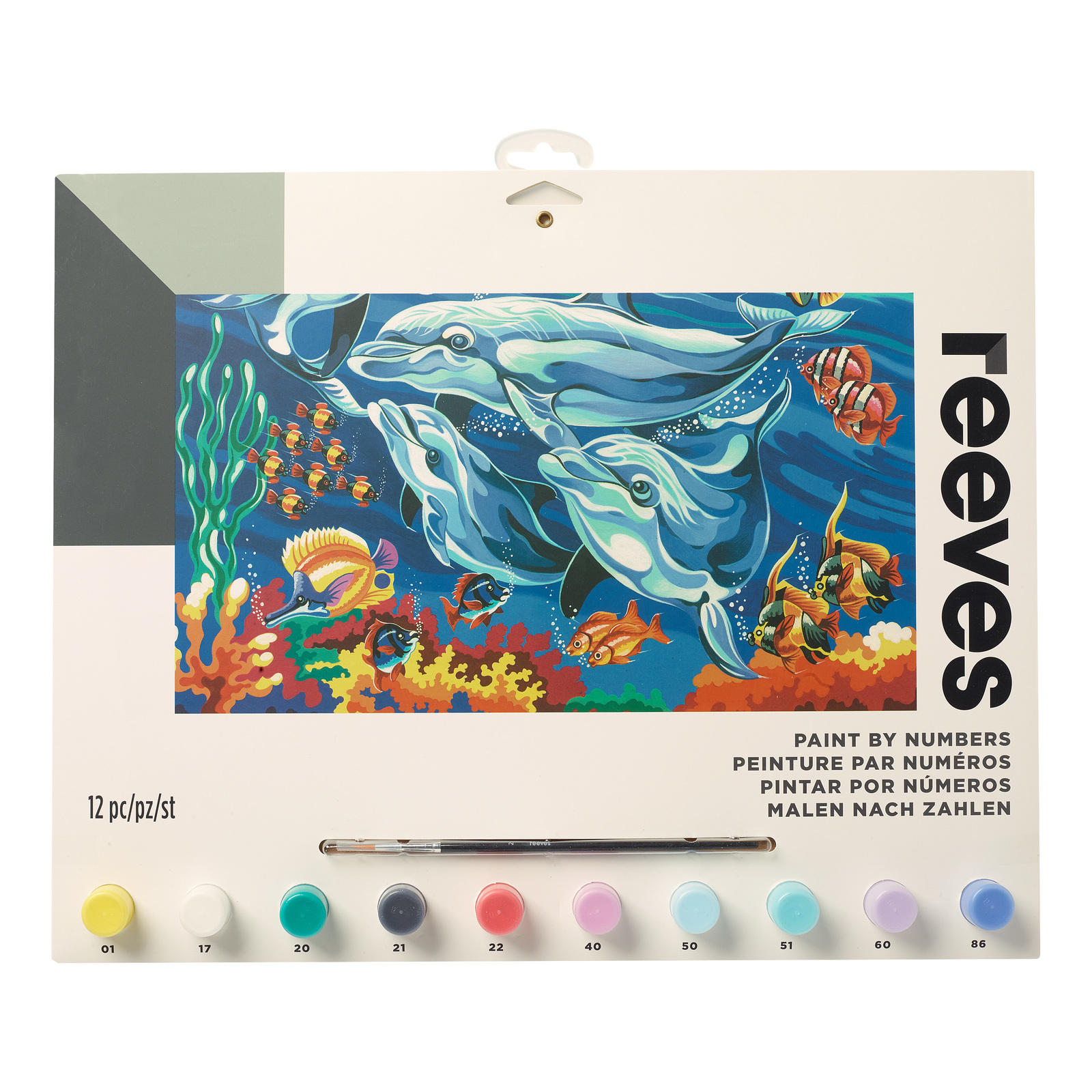 Reeves: Paint by Numbers - Dolphins (Large) image