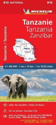 Tanzania & Zanzibar - Michelin National Map 810 image