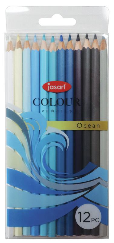 Jasart: Studio Pencil - Ocean (Set of 12)