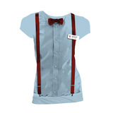 Doctor Who 11th Doctor Braces and Bowtie Costume T-Shirt (X-Large)