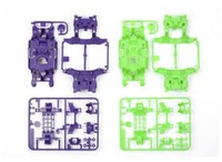 Tamiya Mini 4WD JR MS Chassis Set - Purple/Green