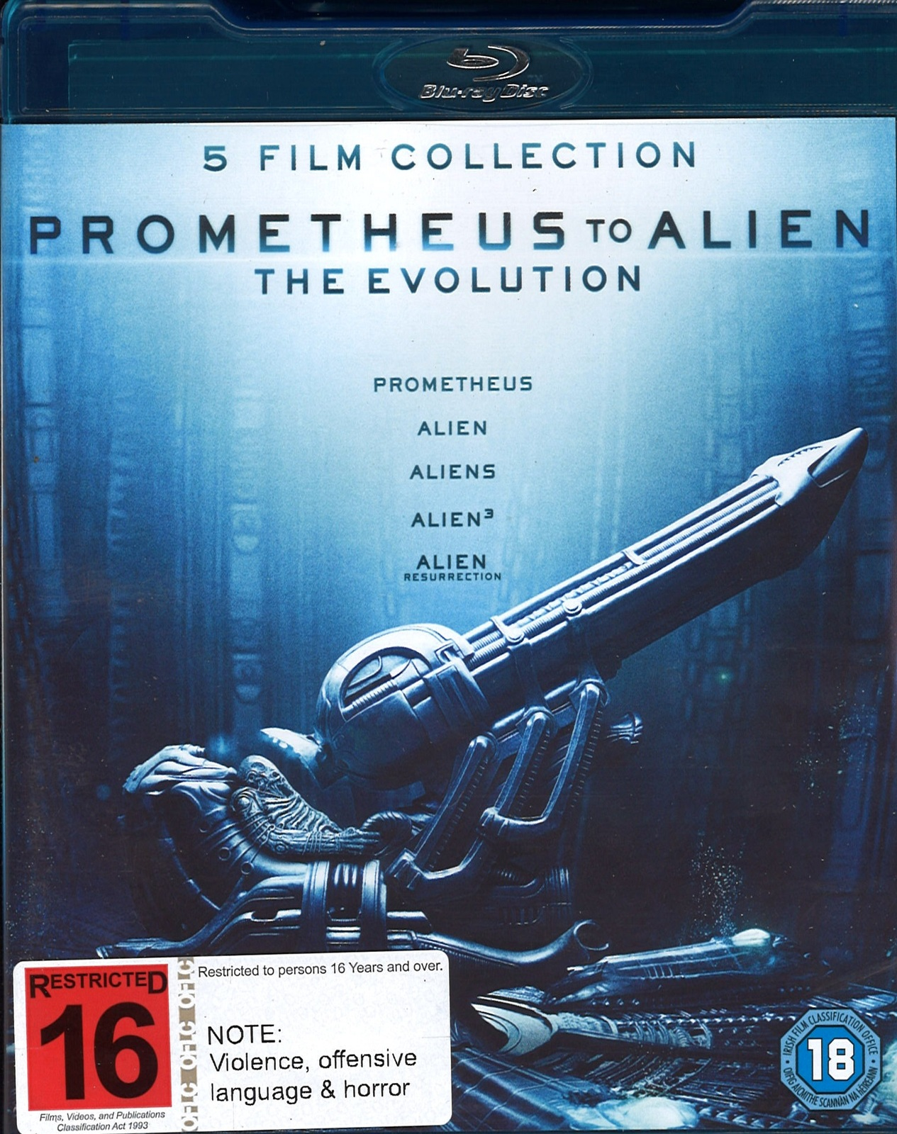 Prometheus To Alien: The Evolution Collection on Blu-ray image