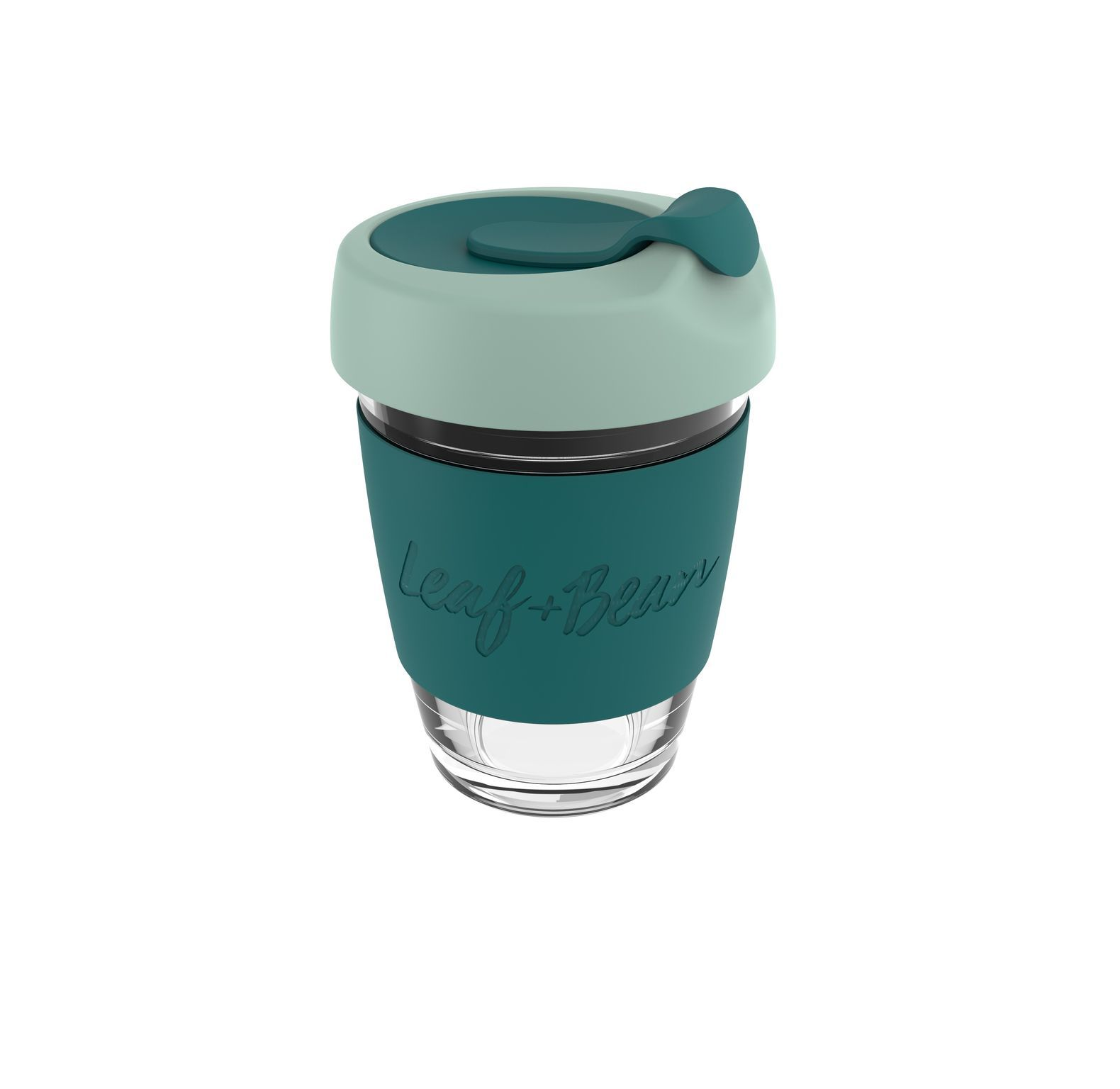 Leaf & Bean: Sorrento Glass Travel Cup - Moss/Forest image