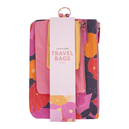 Sunnylife: Small Travel Bag Set - Wild Posy (Set of 3)