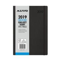 Milford 2019 Galaxy Weekly A5 Diary - Black