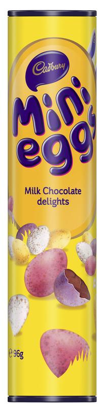 Cadbury: Mini Eggs Tube (96g) 12pk